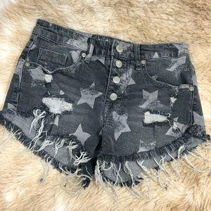 Mossimo Denim High Rise Star Jean Shorts sz 4 (27)